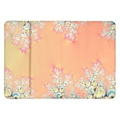 Peach Spring Frost On Flowers Fractal Samsung Galaxy Tab 8.9  P7300 Flip Case by Artist4God
