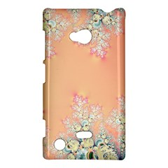 Peach Spring Frost On Flowers Fractal Nokia Lumia 720 Hardshell Case by Artist4God