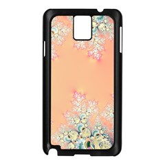 Peach Spring Frost On Flowers Fractal Samsung Galaxy Note 3 N9005 Case (black) by Artist4God