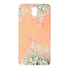 Peach Spring Frost On Flowers Fractal Samsung Galaxy Note 3 N9005 Hardshell Back Case by Artist4God