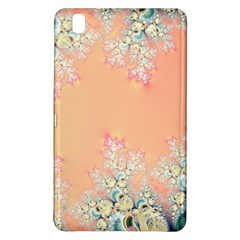 Peach Spring Frost On Flowers Fractal Samsung Galaxy Tab Pro 8 4 Hardshell Case by Artist4God