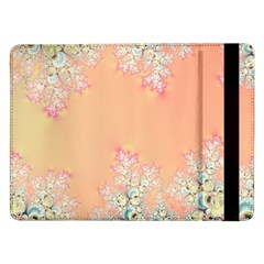 Peach Spring Frost On Flowers Fractal Samsung Galaxy Tab Pro 12 2  Flip Case by Artist4God
