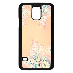 Peach Spring Frost On Flowers Fractal Samsung Galaxy S5 Case (black) by Artist4God