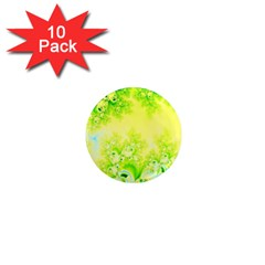 Sunny Spring Frost Fractal 1  Mini Button Magnet (10 Pack) by Artist4God
