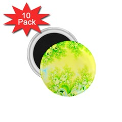 Sunny Spring Frost Fractal 1 75  Button Magnet (10 Pack) by Artist4God
