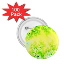 Sunny Spring Frost Fractal 1 75  Button (100 Pack) by Artist4God