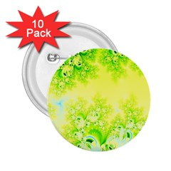 Sunny Spring Frost Fractal 2 25  Button (10 Pack) by Artist4God