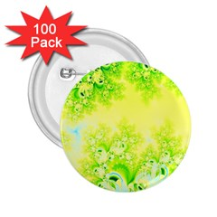 Sunny Spring Frost Fractal 2 25  Button (100 Pack) by Artist4God