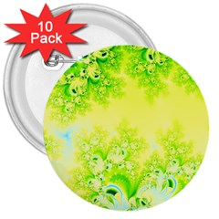 Sunny Spring Frost Fractal 3  Button (10 Pack) by Artist4God