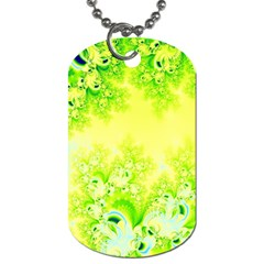 Sunny Spring Frost Fractal Dog Tag (two Sided)  by Artist4God