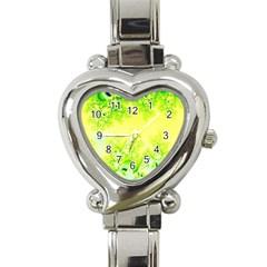 Sunny Spring Frost Fractal Heart Italian Charm Watch