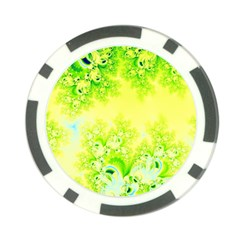 Sunny Spring Frost Fractal Poker Chip by Artist4God
