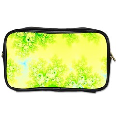 Sunny Spring Frost Fractal Travel Toiletry Bag (one Side) by Artist4God