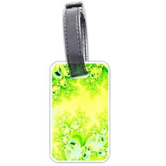 Sunny Spring Frost Fractal Luggage Tag (two Sides) by Artist4God