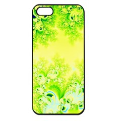 Sunny Spring Frost Fractal Apple Iphone 5 Seamless Case (black) by Artist4God