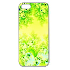 Sunny Spring Frost Fractal Apple Seamless Iphone 5 Case (clear) by Artist4God