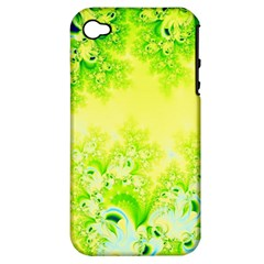 Sunny Spring Frost Fractal Apple Iphone 4/4s Hardshell Case (pc+silicone) by Artist4God