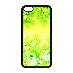 Sunny Spring Frost Fractal Apple Iphone 5c Seamless Case (black) by Artist4God