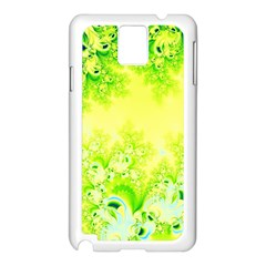 Sunny Spring Frost Fractal Samsung Galaxy Note 3 N9005 Case (white) by Artist4God