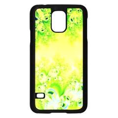 Sunny Spring Frost Fractal Samsung Galaxy S5 Case (black) by Artist4God