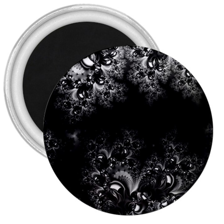 Midnight Frost Fractal 3  Button Magnet