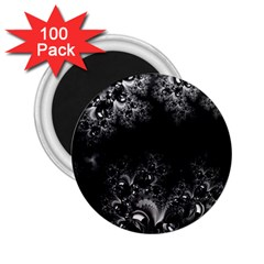 Midnight Frost Fractal 2 25  Button Magnet (100 Pack) by Artist4God