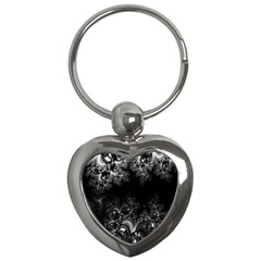 Midnight Frost Fractal Key Chain (heart) by Artist4God