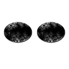 Midnight Frost Fractal Cufflinks (oval) by Artist4God