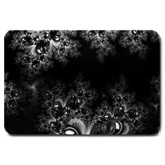 Midnight Frost Fractal Large Door Mat by Artist4God