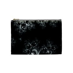 Midnight Frost Fractal Cosmetic Bag (medium) by Artist4God