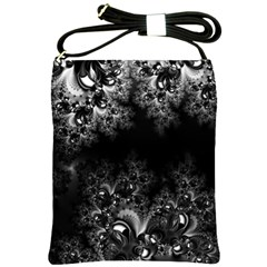 Midnight Frost Fractal Shoulder Sling Bag by Artist4God