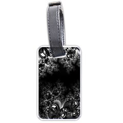Midnight Frost Fractal Luggage Tag (two Sides) by Artist4God