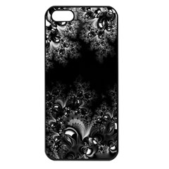 Midnight Frost Fractal Apple Iphone 5 Seamless Case (black) by Artist4God