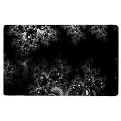 Midnight Frost Fractal Apple Ipad 3/4 Flip Case by Artist4God