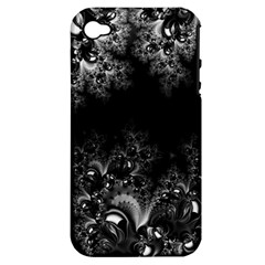 Midnight Frost Fractal Apple Iphone 4/4s Hardshell Case (pc+silicone) by Artist4God
