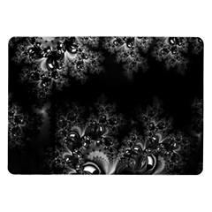 Midnight Frost Fractal Samsung Galaxy Tab 10 1  P7500 Flip Case by Artist4God