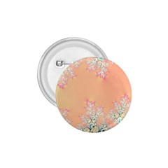 Peach Spring Frost On Flowers Fractal 1 75  Button by Artist4God
