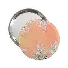 Peach Spring Frost On Flowers Fractal Handbag Mirror (2 25 ) by Artist4God