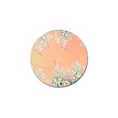 Peach Spring Frost On Flowers Fractal Golf Ball Marker 10 Pack by Artist4God