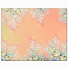 Peach Spring Frost On Flowers Fractal Canvas 8  X 10  (unframed) by Artist4God