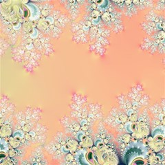 Peach Spring Frost On Flowers Fractal Canvas 12  X 12  (unframed)