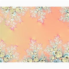 Peach Spring Frost On Flowers Fractal Canvas 16  X 20  (unframed) by Artist4God