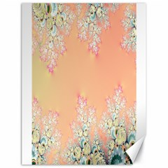 Peach Spring Frost On Flowers Fractal Canvas 18  X 24  (unframed) by Artist4God
