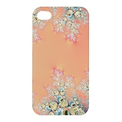 Peach Spring Frost On Flowers Fractal Apple Iphone 4/4s Hardshell Case by Artist4God