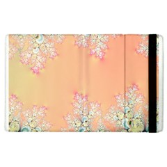 Peach Spring Frost On Flowers Fractal Apple Ipad 3/4 Flip Case by Artist4God