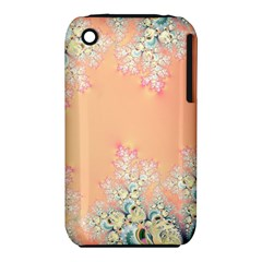 Peach Spring Frost On Flowers Fractal Apple Iphone 3g/3gs Hardshell Case (pc+silicone) by Artist4God
