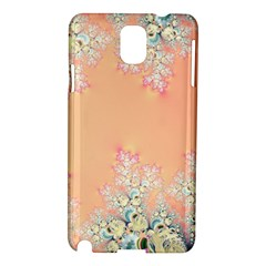 Peach Spring Frost On Flowers Fractal Samsung Galaxy Note 3 N9005 Hardshell Case by Artist4God