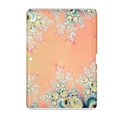 Peach Spring Frost On Flowers Fractal Samsung Galaxy Tab 2 (10 1 ) P5100 Hardshell Case  by Artist4God