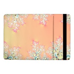 Peach Spring Frost On Flowers Fractal Samsung Galaxy Tab Pro 10 1  Flip Case by Artist4God