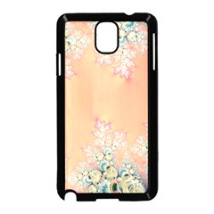 Peach Spring Frost On Flowers Fractal Samsung Galaxy Note 3 Neo Hardshell Case (black) by Artist4God
